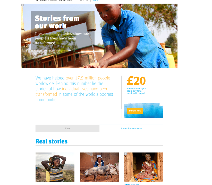 Stories from our work, Water Aid
