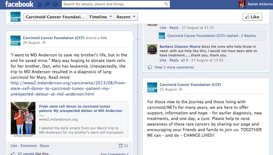 CCF's Facebook page