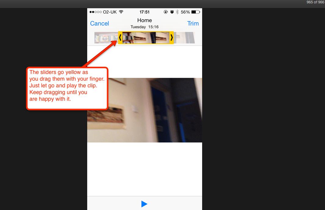 screenshot of editing
