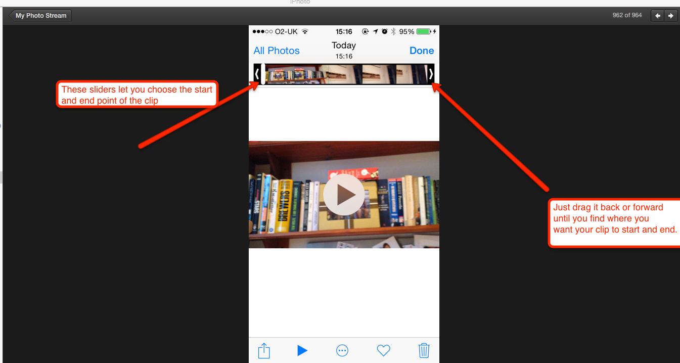 screen shot of editing sliders